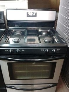 stainless steel stove - Downdraft Electric Range