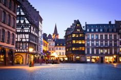 Twilight in Strasbourg, France *by Marius Brede