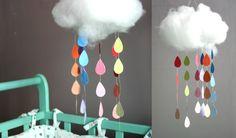 Zelf maken / knutselen voor de kinderkamer: prachtige mobiel voor boven het bed. Budget knutsel tip van Speelgoedbank Amsterdam voor kinderen en ouders