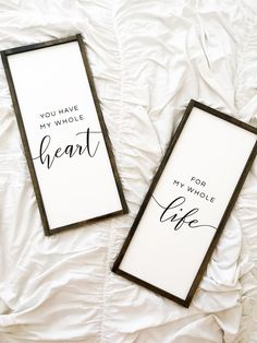 Country Love quote Decor, You Have My Whole Heart Wood Sign Quote Whole Heart Whole Life Quote Sign Bedroom Love Quote Saying Wood Sign Black Painted Sign Country Bedroom Signs, Wood Bedroom, Bedroom Decor, Bedroom Apartment, Rustic Bedrooms, Bedroom Quotes, Bedroom Lighting, White Bedroom, Bedroom Ideas