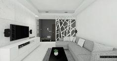 Monochromatyczne wnętrze mieszkania w Warszawie - Jedynetakiewnętrza