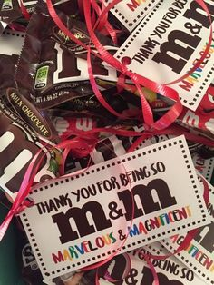 : Treat Tags: M&M {Marvelous & Magnificent} technology rocks.: Treat Tags: M&M {Marvelous & Magnificent} Volunteer Appreciation Gifts, Volunteer Gifts, Teacher Appreciation Week, Customer Appreciation, Teacher Treats, Staff Gifts, Team Gifts, Work Gifts, Fun Gifts