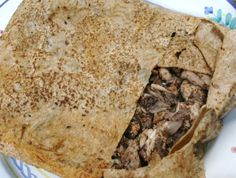 Chicken in bread with onions and sumac  مسخن