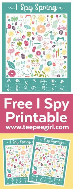 Free I Spy Spring Printable Game. This game is  perfect for both older and younger kids. It's challenging and fun so it will keep the kids busy and happy for a long time.