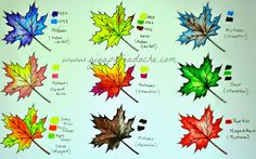 how to color leaves Coloring Tips, Colouring Pages, Adult Coloring Pages, Coloring Books, Colored Pencil Tutorial, Colored Pencil Techniques, Copics, Prismacolor, Coloring Tutorial