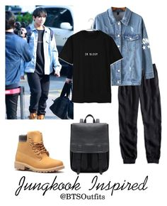 """""""Jungkook Inspired"""" by btsoutfits ❤ liked on Polyvore featuring Lucky Brand, Chicnova Fashion and plus size clothing"""