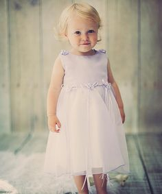 Lavender Floral Ribbon Babydoll Dress & Headband