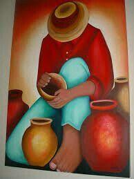 Mexican Paintings, African Art Paintings, Love Painting, Fabric Painting, Art Péruvien, Peruvian Art, Southwestern Art, Naive Art, Mexican Folk Art