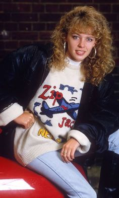Kylie Minogue Rocked All The Trends Including The Poodle Perm, Hooped Earrings And Oversized Jackets, 1980s Fashion Trends, 80s Trends, 80s And 90s Fashion, Fashion News, Fashion Brands, Fashion Outfits, Cheap Fashion, Fashion Women, Evolution Of Fashion
