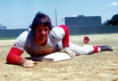 Cincinnati Reds infielder Pete Rose during the 1974 spring training season.