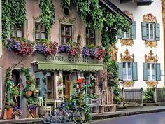 Oberammergau Germany - a wonderful town in the Alps near Munich
