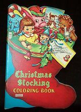 Vintage Christmas Stocking Coloring Book by Saalfield