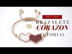 Bracelet Tutorial, Seed Bead Projects, Beading Projects, Bead Loom Bracelets, Bracelet Crafts, Loom Beading, Beading Patterns, Brick Stitch, Leather Bracelets