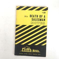 Vintage Miller Death of a Salesman Cliff Notes Paperback 1964