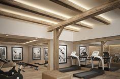 Fitness - Hotel de Rougemont - By Plusdesign, architects Claudia Sigismondi & Andrea Proto