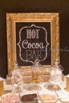 Set up a hot cocoa bar.