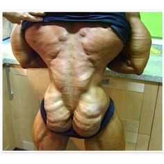 Don't do steroids! Your ass will look like a walnut!