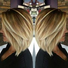 9.-Inverted-Bob-Hairstyle - Frisuren Haarstyle #BobCutHairstylesOmbre
