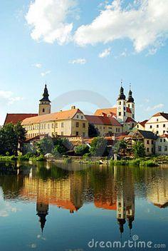 Castle Of Telc, Czech Republic Stock Photo - Image of renaissance, europe: 8561248 Prague Castle, Beautiful Places In The World, Central Europe, Czech Republic, The Good Place, Scenery, Places To Visit, Big Big, Classical Architecture