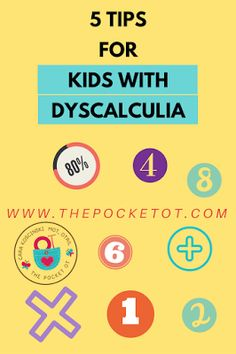 The Pocket Occupational Therapist: 5 Tips to Help With Dyscalculia