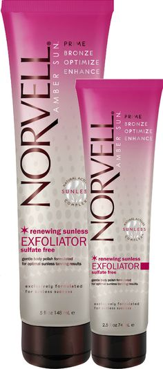Preparing for a tan is a MUST @Norvell Sunless Exfoliator lifts away impurities preparing your skin for optimal Sunless result. #tanning #spraytanning