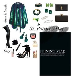 """St. Patrick's Day"" by aimeqw on Polyvore featuring moda, Boohoo, Yves Saint Laurent, Alexander McQueen, Marc Jacobs, Too Faced Cosmetics, MAC Cosmetics, CARAT* London, Armenta y Cartier"