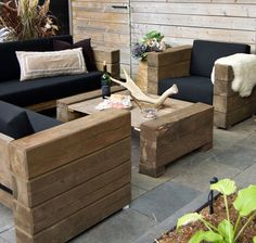 Best And Amazing DIY Outdoor Furniture Ideas Diy garden furniture Diy Outdoor Furniture, Deck Furniture, Unique Furniture, Wooden Furniture, Furniture Projects, Furniture Plans, Outdoor Decor, Luxury Furniture, Bedroom Furniture