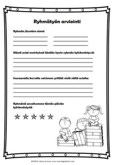 Ryhmätyön arviointia (in Finnish) by Maria Pernu Student Self Assessment, Formative Assessment, Parent Teacher Conferences, Teacher Notes, Teaching Schools, Teaching Social Studies, Evaluation Form, Study Skills, Deep Learning