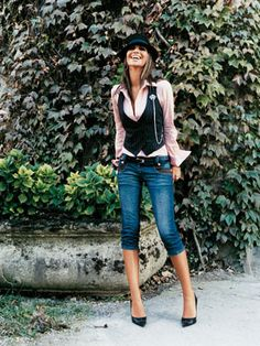 Dressed up but still casual denim outfit Mode Outfits, Fall Outfits, Casual Outfits, Fashion Outfits, Womens Fashion, Fashion Tips, Denny Rose, Estilo Jeans, Looks Style