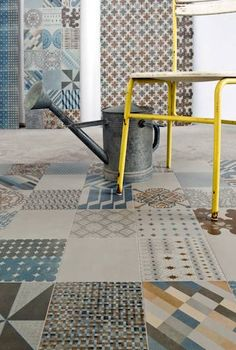"This has Patricia Urquiola written all over it! Encaustic-inspired ""Azulej"" #porcelain #tiles from Mutina."