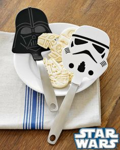 Star Wars spatulas. (My husband got the Darth Vader one in his Christmas stocking a few years ago.)