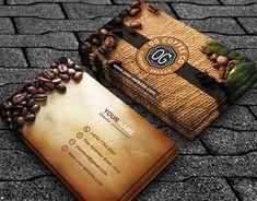 Cheap Coffee Shops Near Me Digital Business Card, Create Business Cards, Business Cards Layout, Professional Business Card Design, Modern Business Cards, Business Card Mock Up, Coffee Shop Branding, Coffee Shop Business, Modern Restaurant