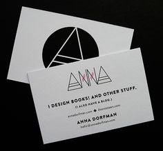 I design books! And other stuff // Great business card!