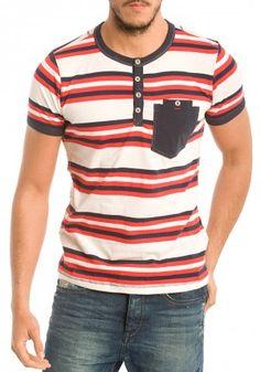 Camisetas de Six Valves para Hombre en Pausant.com Denim T Shirt, Blazers For Men, Boys Shirts, Winter Dresses, Striped Tee, Mens Tees, Summer Outfits, Menswear, Mens Fashion