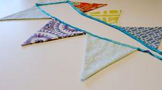 Aprende a hacer estos coloridos banderines de tela