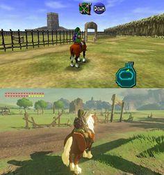 Lon Lon ranch Ocarina of Time vs Breath of The Wild