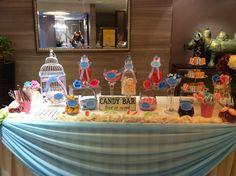 A blue and pink theme candy bar in hong kong ! A sweet dessert table! Dessert Bars, Dessert Table, Blue Candy Buffet, Pink Themes, Colorful Candy, Candy Jars, Sweet Desserts, Love Is Sweet, Hong Kong