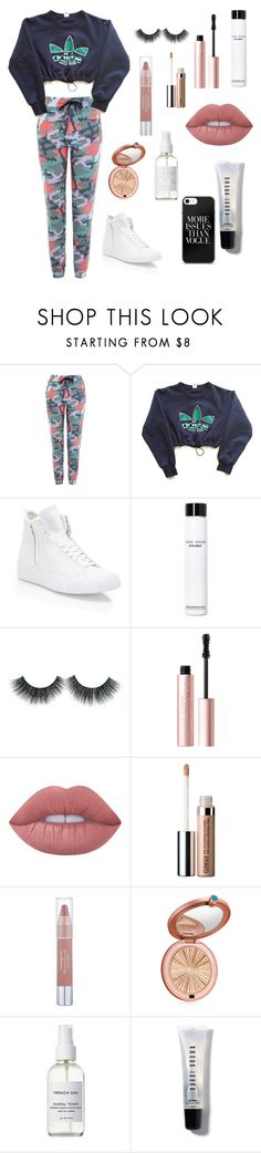 """inspired in:@valentinecoast"" by yulidounut ❤ liked on Polyvore featuring Topshop, adidas, Converse, Bobbi Brown Cosmetics, Too Faced Cosmetics, Lime Crime, Clinique, Neutrogena, Estée Lauder and French Girl"