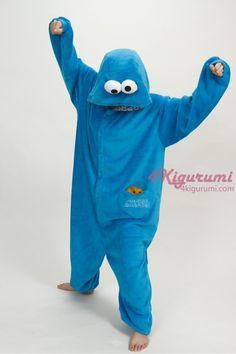 Sesame Street Cookie Monster Kigurumi Onesie - 4kigurumi.com  http://www.4kigurumi.com/animal-adult-onesie-sesame-street-cookie-monster-kigurumi-pajamas