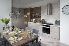 kuchyňa Jela vyhotovenie Šedý kameň vysoký lesk Flat Ideas, Kitchen, Table, Crafts, House, Furniture, Home Decor, Interiors, Cooking