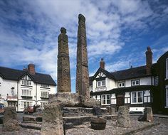 View of the crosses at Sandbach English Heritage, Stoke On Trent, Crosses, Great Britain, Genealogy, Old Photos, Scotland, Ireland, Past