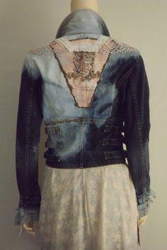 RESERVED for Debra Lagenlook Denim Jacket by bluemermaiddesigns