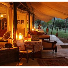 Kenya's top safari lodges offer unrivaled luxury in some of the best game-viewing areas on Earth. Check out tented safari camps and unique villas (with a map). Go Glamping, Tent Camping, Glam Camping, Campsite, Vintage Safari, Portugal, Sainte Lucie, British Colonial Style, Out Of Africa