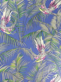 Sunbirds flit through print by Matthew Williamson.