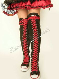 converse+thigh+high+sneakers | compatiable boots: 30-hole (thigh-hi) & 35-hole (mid-thigh hi) boots