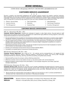 find this pin and more on resume career termplate free customer service - Resume For Customer Service Job