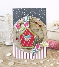 'Tis The Season Card by Melissa Phillips for Papertrey Ink (November Framed Scrapbook Paper, Scrapbook Paper Crafts, Diy Scrapbook, Scrapbooking, Watercolor Christmas Cards, Watercolor Cards, Photo Invitations, Invitation Cards, Card Making Inspiration