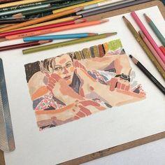 """손은경 Son Eunkyoung🇰🇷 on Instagram: """"좋아하는 마이클피트를 그리고서 토요일 수업도 끄읕. 남은 2월엔 수업계획 없습니다. 날씨가 조금 풀리(겠죠...?)는 3월에 만나요🙌 #드로잉수업#우리가사랑하는영화"""" Gouache Painting, Painting & Drawing, Art Sketches, Art Drawings, Galaxy Drawings, Oil Pastel Art, Tinta China, Anime Comics, Art Sketchbook"""