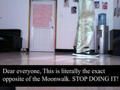 The Correct Way To Moonwalk (6 GIFS)