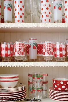 Would love to open my cupboard and find it full of Vintage colorful glassware